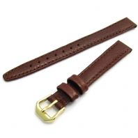 CONDOR Padded Buffalo Calf Leather Watch Strap Brown 12mm 14mm 074R